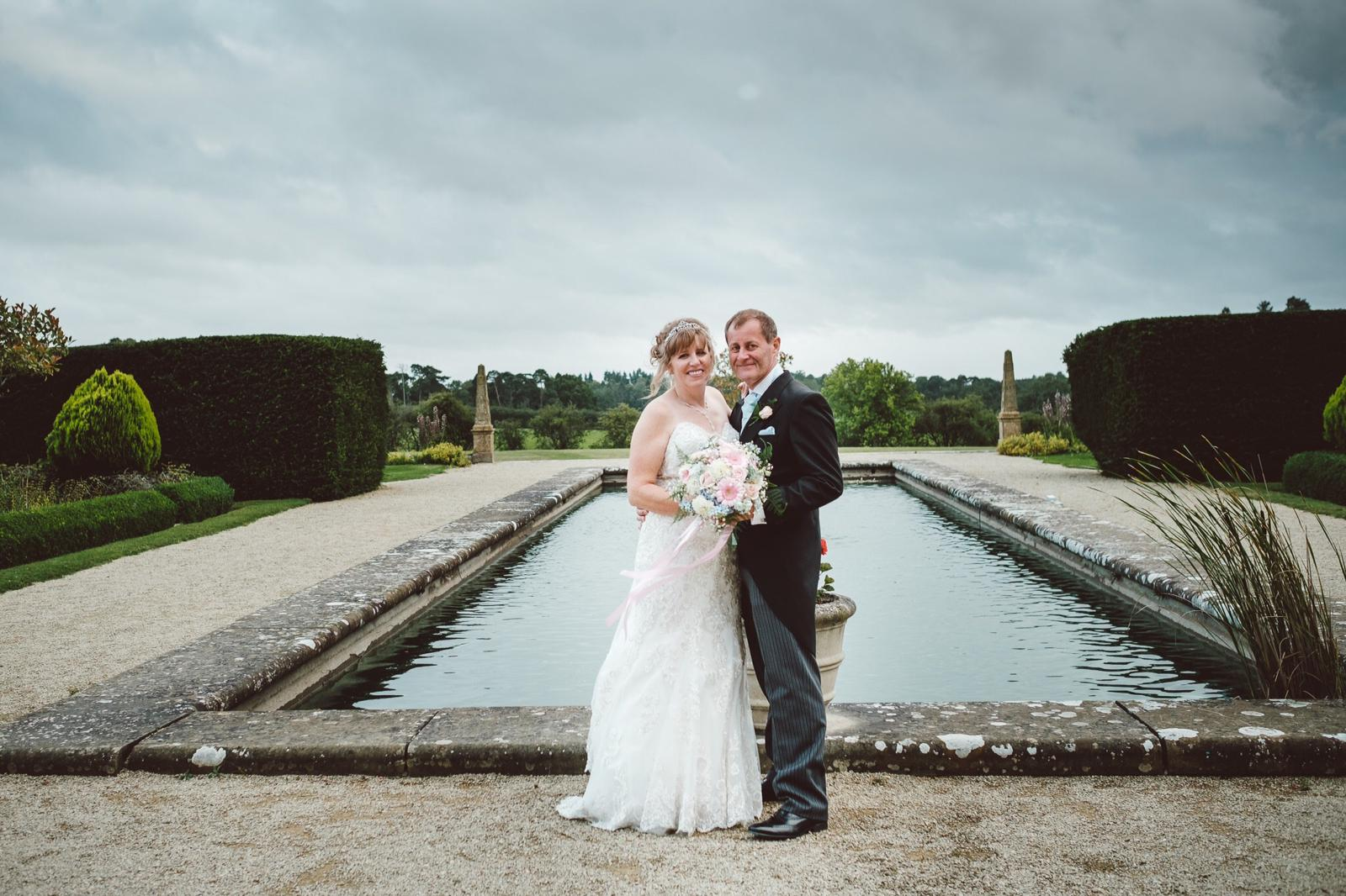 Mr & Mrs by the pond